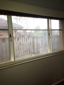 Three part horizontal slider over existing windows